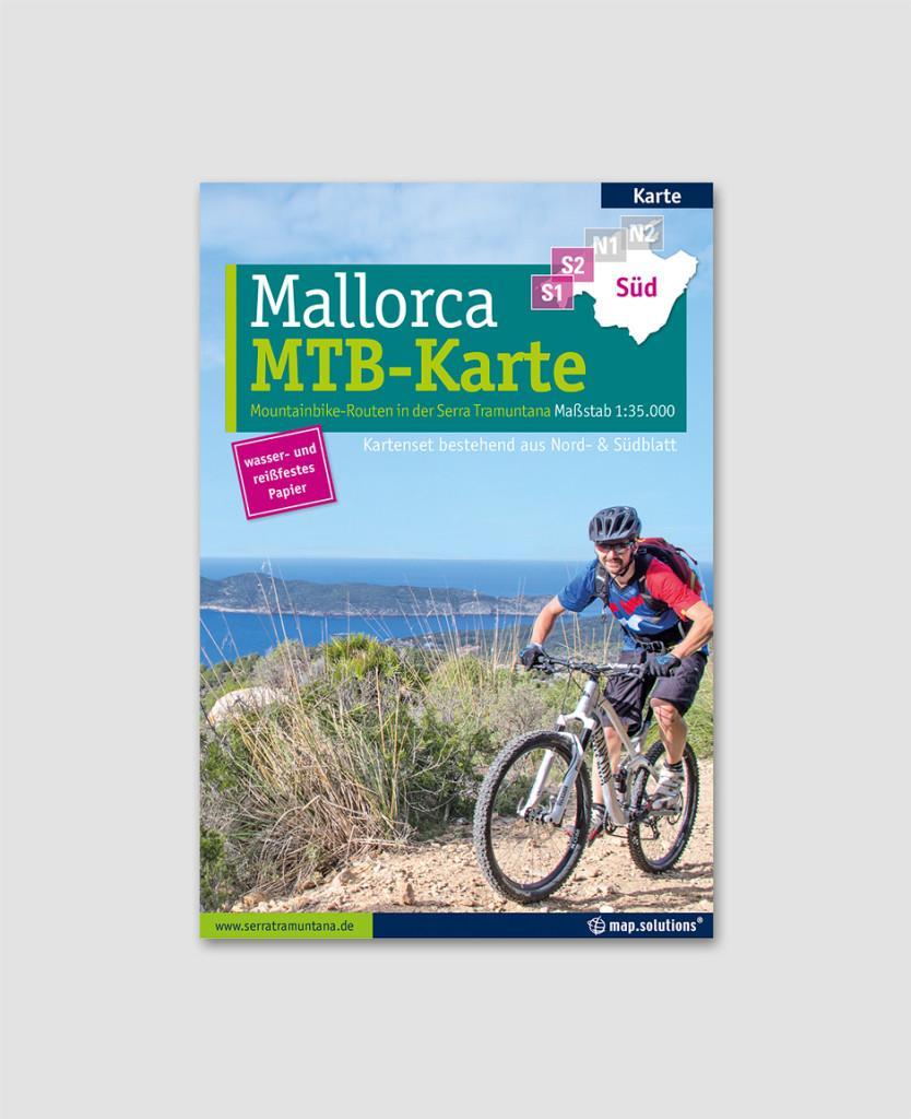 Mallorca Mountainbikekarte Titel Südblatt