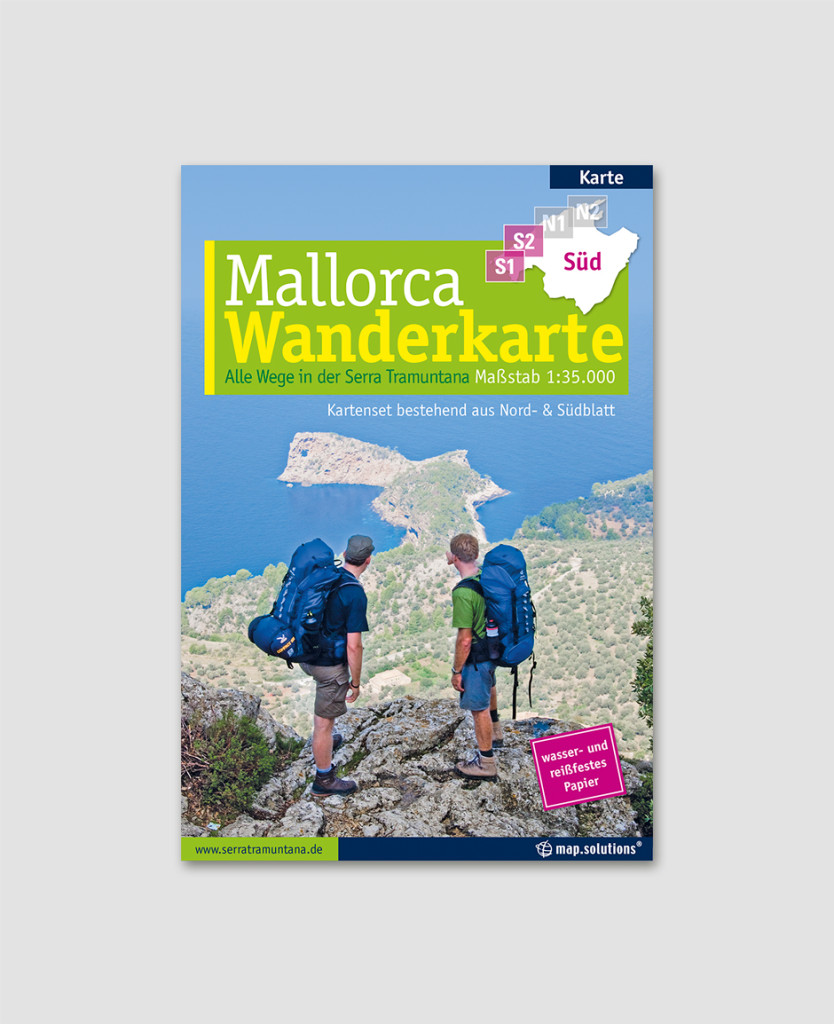 Mallorca Wanderkarte Titel Südblatt