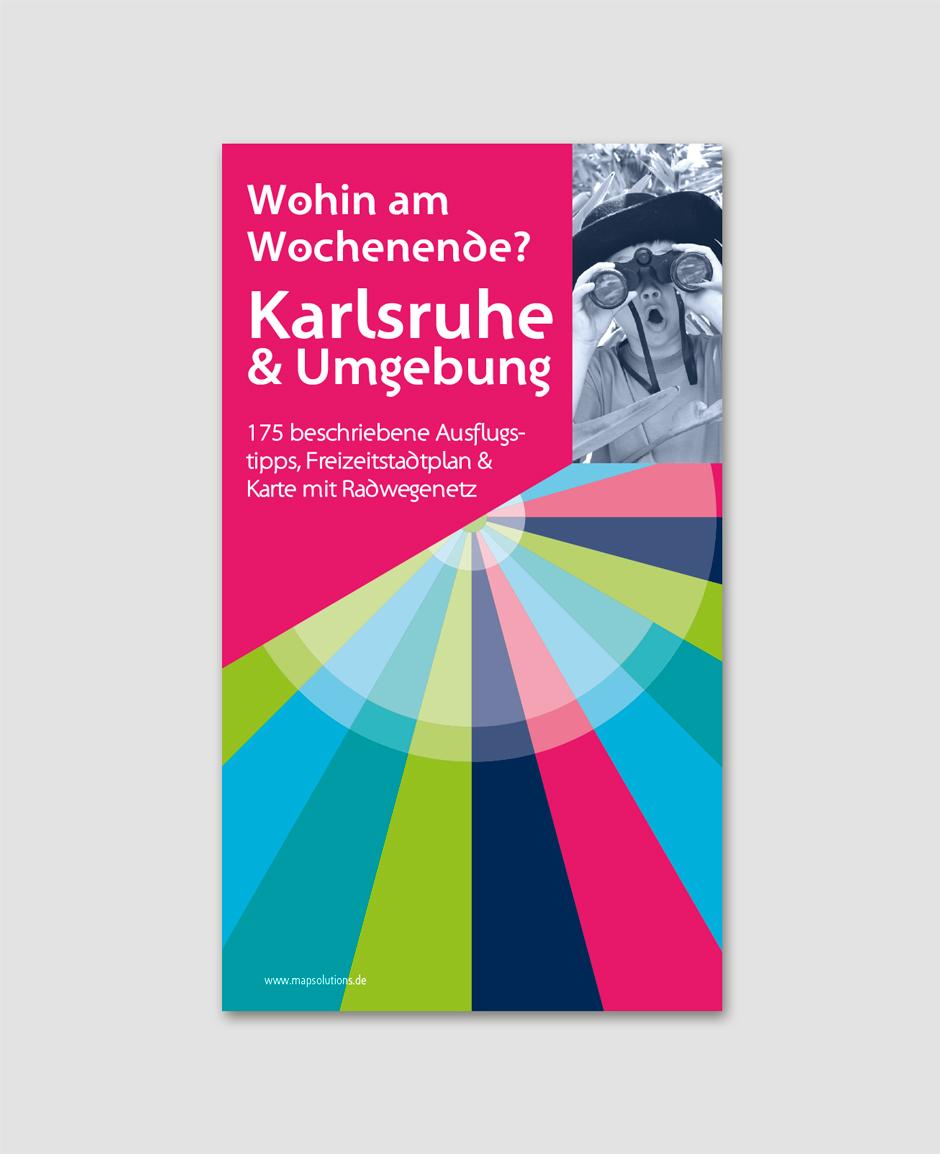 Karlsruhe Karte Umgebung.Freizeitkarte Karlsruhe